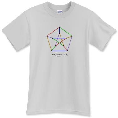 Petersen Graph 5-edge Coloring T-Shirt - T-Shirts - WEARMATH.COM ...