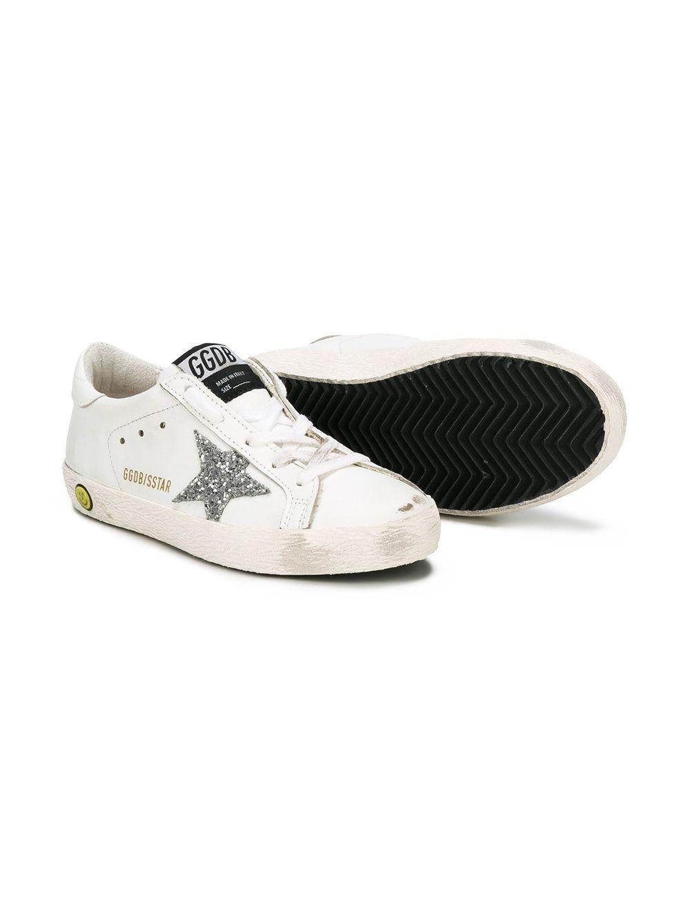 Oie D'or Enfants De Luxe De Marque Chaussures De Sport Super Star - Blanc 5mT0DQ