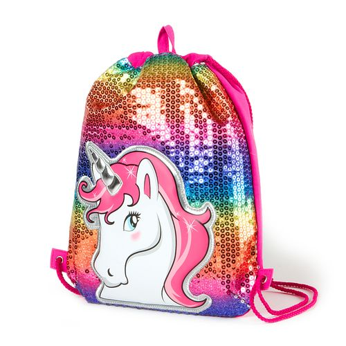 700bb5a92ccd Sequin Unicorn Drawstring Bag | Claire's | Cases and Carriers ...