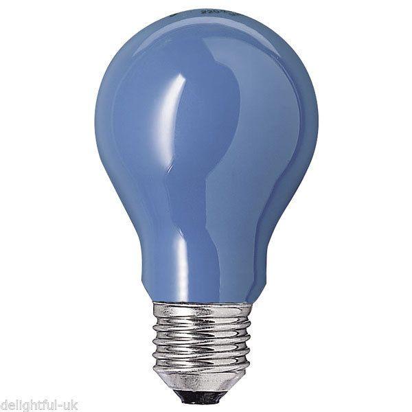 Blue Coloured Light Bulb 15w Es Screw In Cap Lamp Large Traditional Gls Shape In Home Furniture Amp Diy Lighting Light Bulbs Ebay Glodlampa