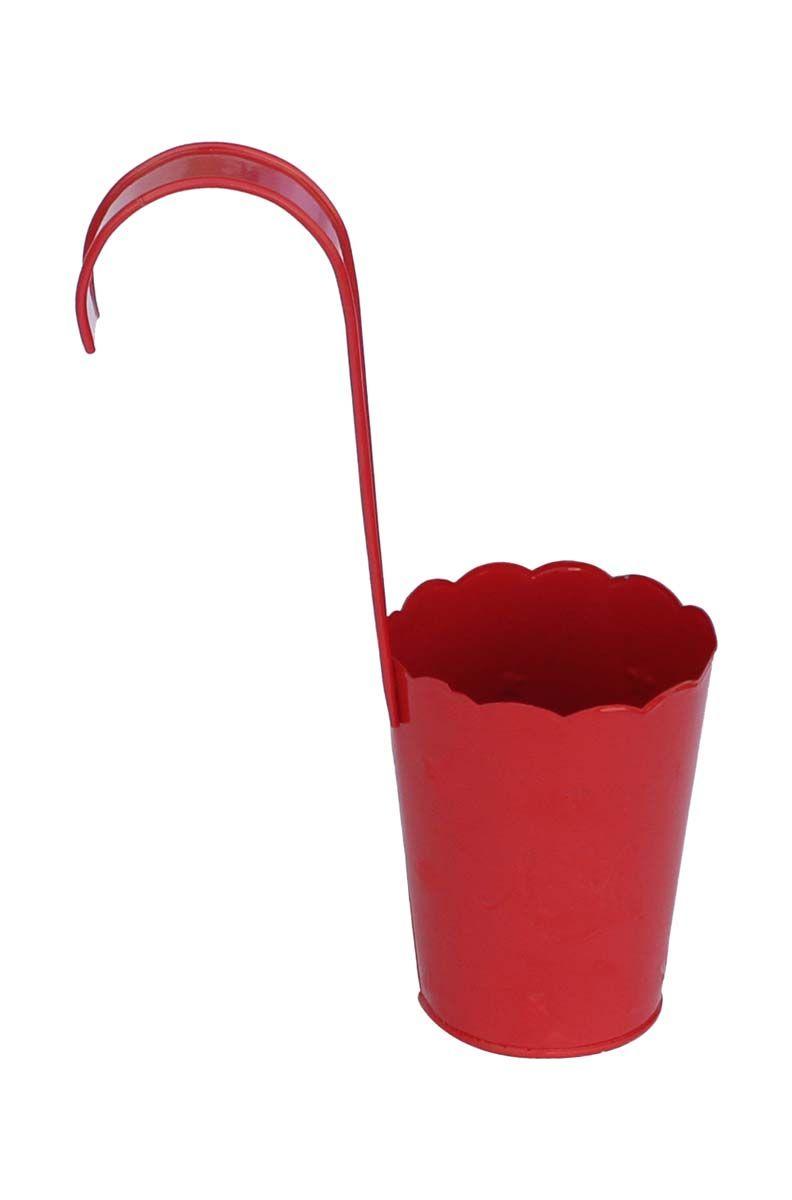 Bulk Wholesale Handmade Hanging Metal Planter in Red Color – Pots ...