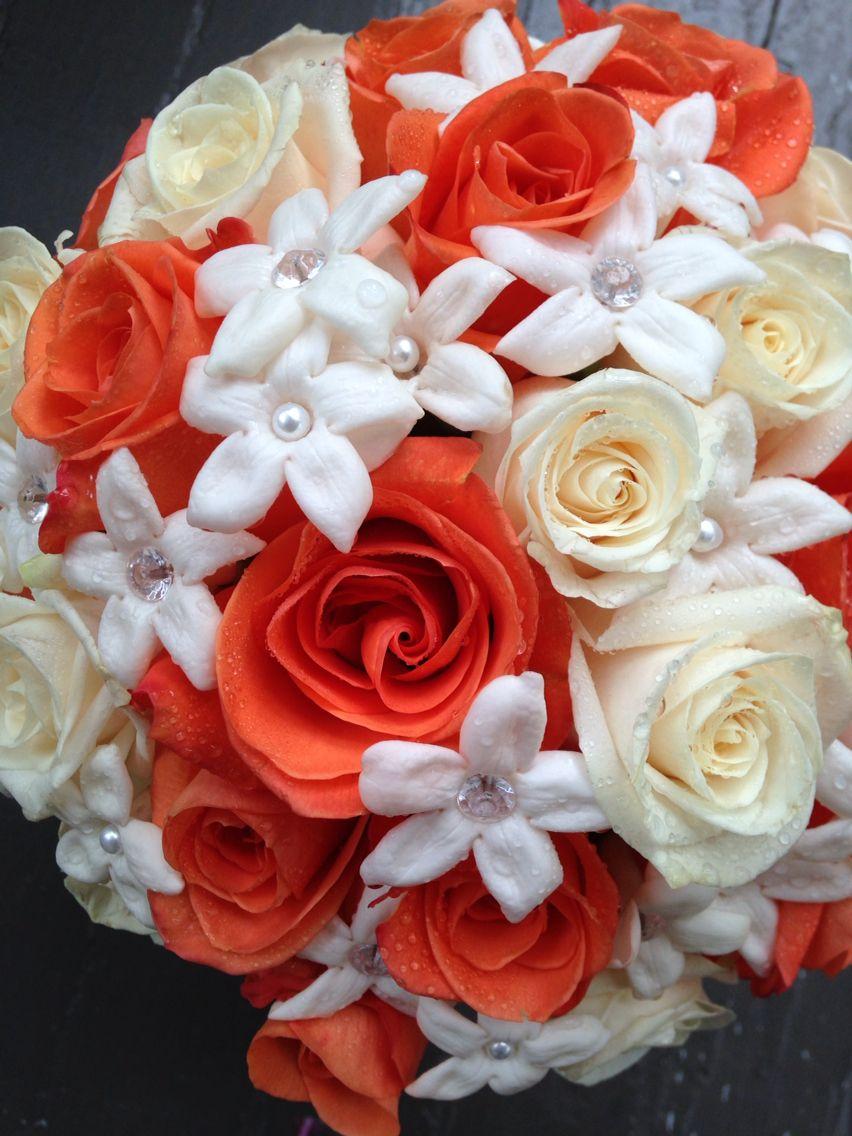 Our Ivory Vivid Orange Bouquet Appleblossom Flowers Com Fiori