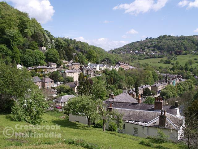 Matlock Bath From Above The Temple Hotel