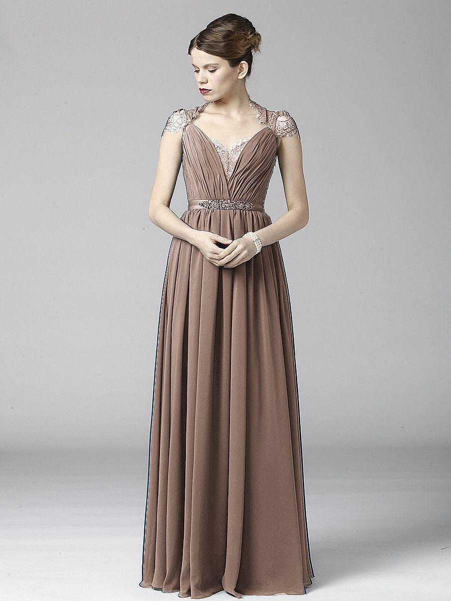 Soft Lace and Chiffon Dress Plus and Petite sizes