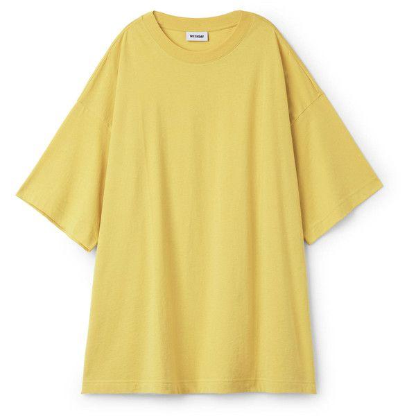 Huge T Shirt Dress Smoky Yellow Dresses Jumpsuits Weekday