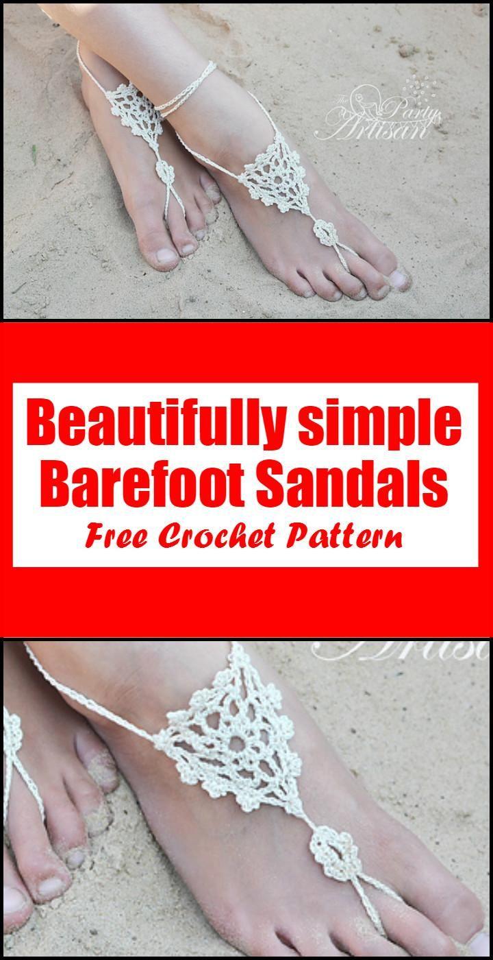 Crochet Barefoot Sandals - 50+ Free Crochet Patterns | Crochet ...