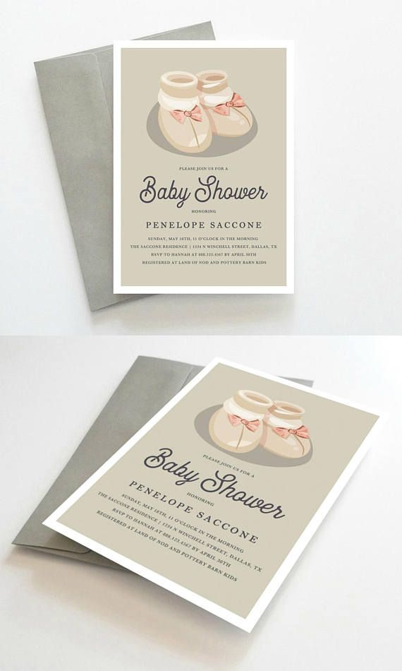 Baby Shower Theme Invitations, Girl Baby Shower Invitations, Baby ...