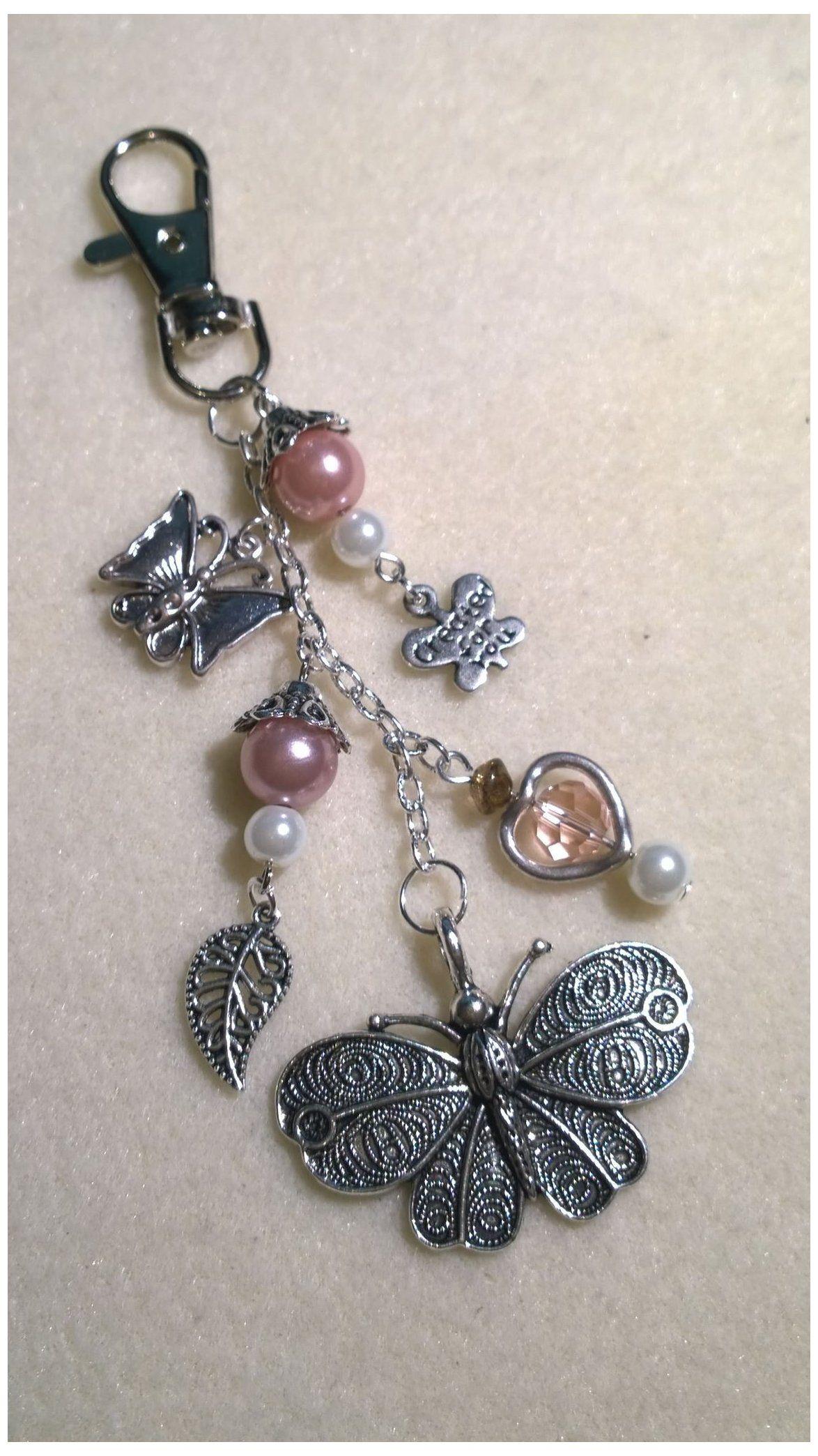 Indian silver purple bag jewel silver charm ribbons Handmade
