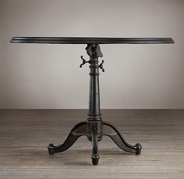 Tables   C. French Tilt Top Brasserie Table I Restoration Hardware   Tilt  Top Brasserie Table, French Brasserie Table, French Iron Brasserie Table,  ...
