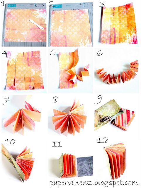 mini-book #tutorial from one sheet of paper