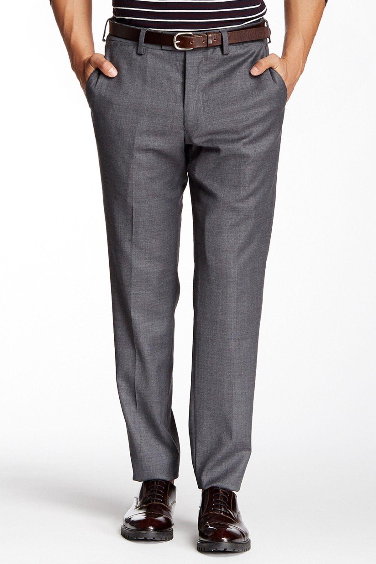 514513fee0 Louis Raphael Solid Stretch Dress Slim Fit Pants - 30-34   Inseam ...