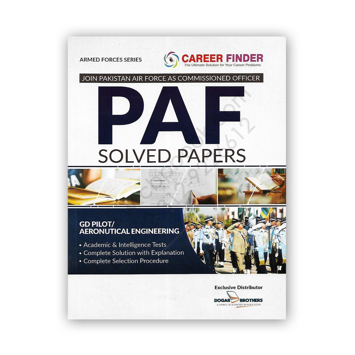 PAF Solved Papers Dogar Brother Solving, Online