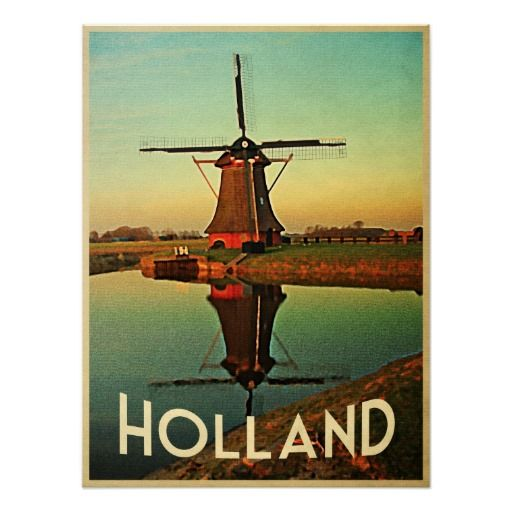 Holland Windmill Poster