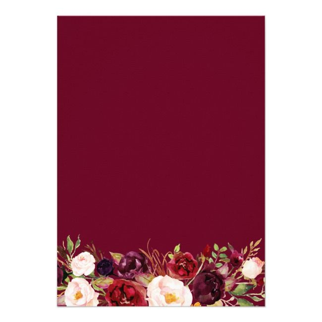 Blush Burgundy Floral Gold Frame Bridal Shower Invitation | Zazzle.com