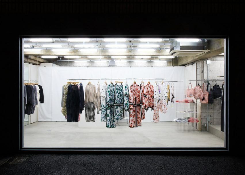 Schemata Architects and KHA Studio have transformed a space in Tokyo to create a minimal fashion boutique that is entirely visible from the street.