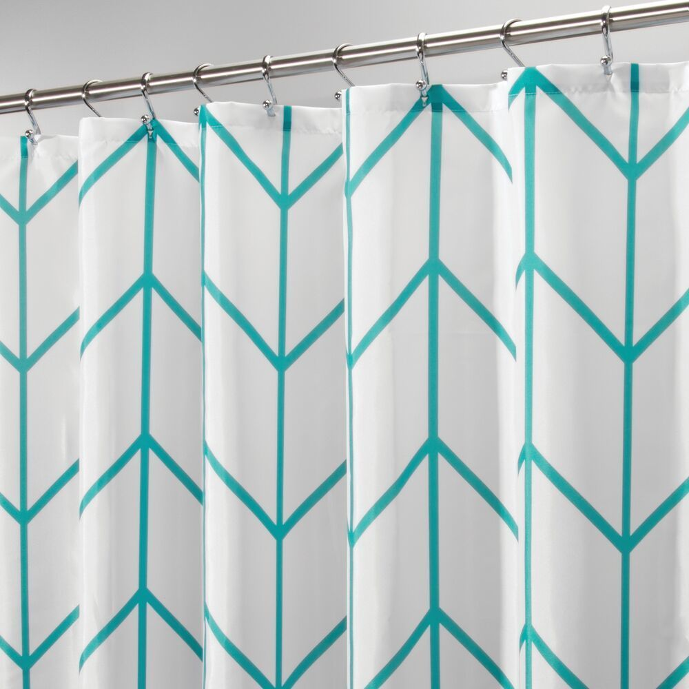 Fabric Chevron Printed Shower Curtain, 72