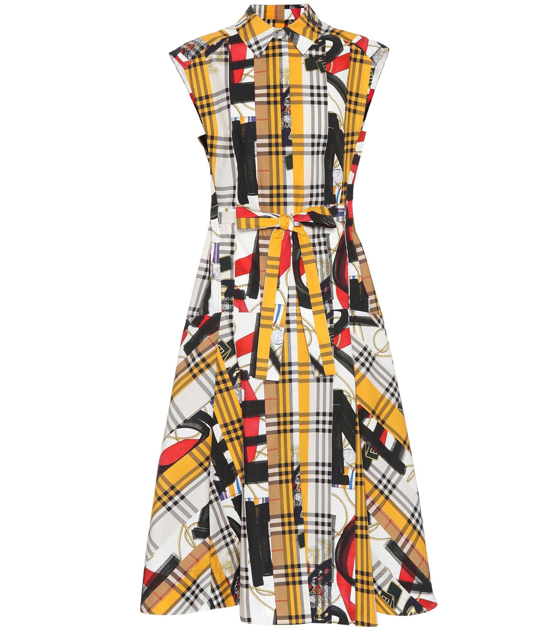 961e81ccfda0 Burberry - Archive Scarf print cotton dress | mytheresa.com | Mode ...
