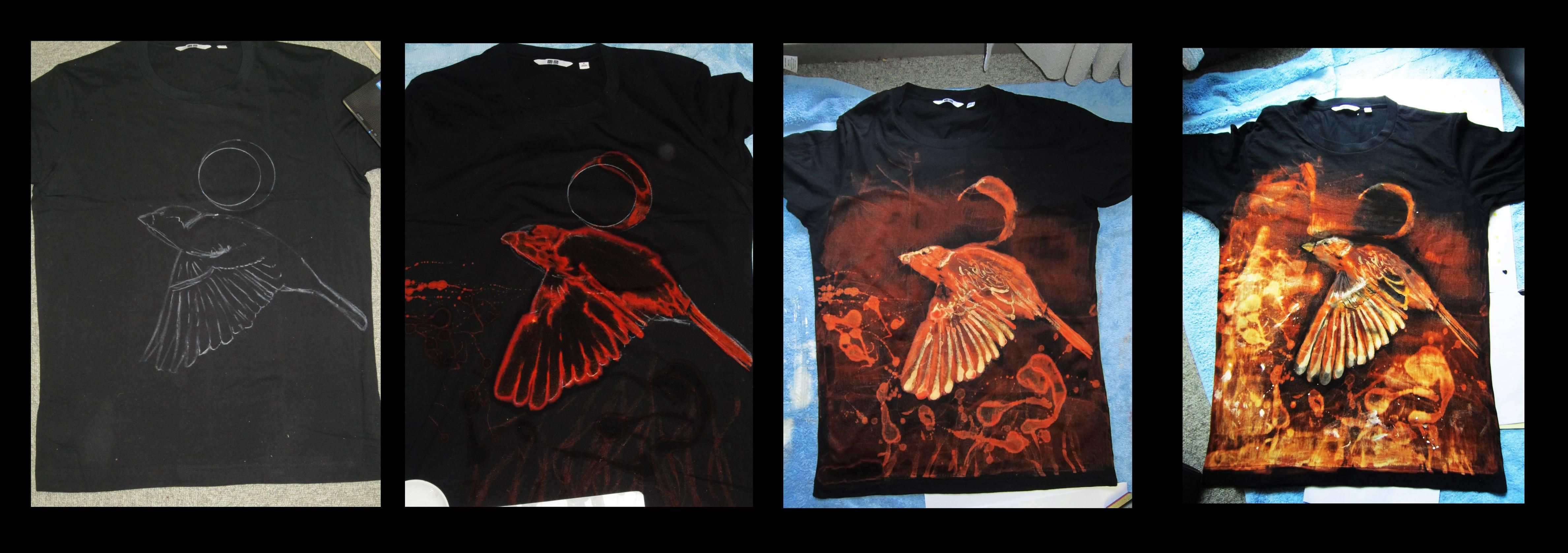 Shirt Design Made With Bleach And Ink I Want To Try Something Like This Bleach Art Art Shirts Diy Prints