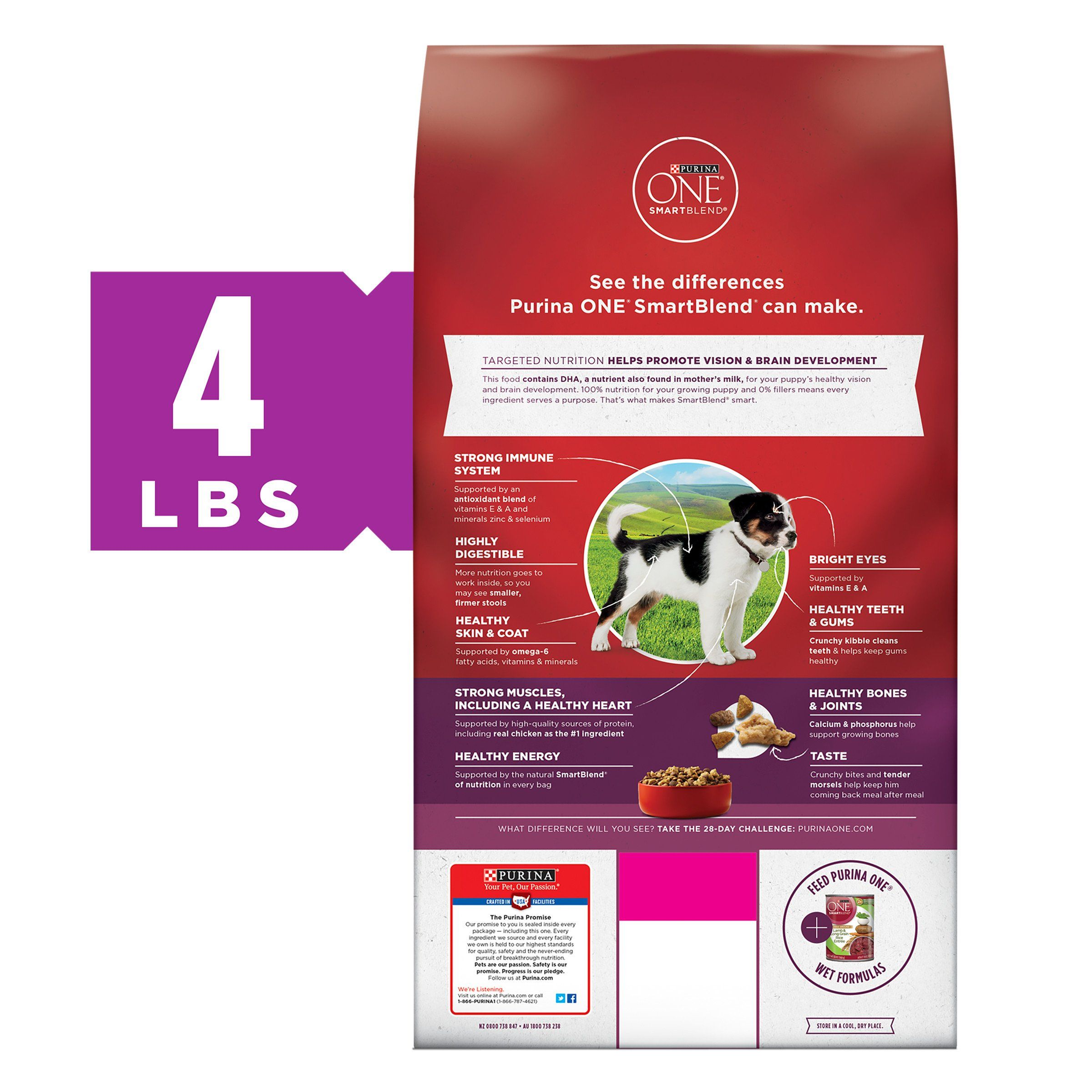 Purina One Smartblend Healthy Puppy Formula Dry Dog Food Pack Of 6