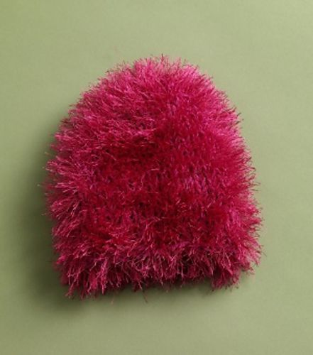 Fun Fur Stash Buster: Knit Chemo Cap #50566AD pattern by Lion Brand ...