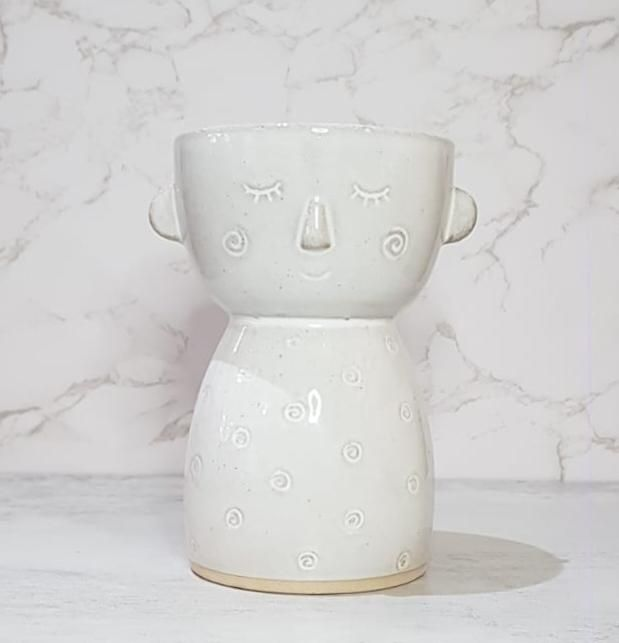 Specked Face Vase