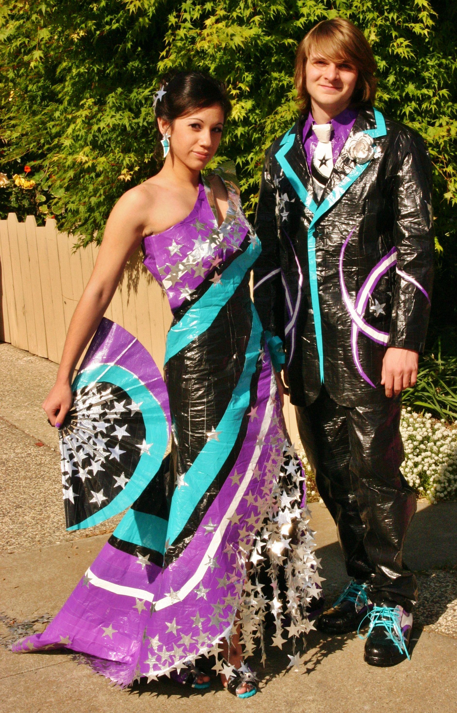 Prom Scholarship Contest finalist. #ducktape #prom @Jennifer Reitzer ...