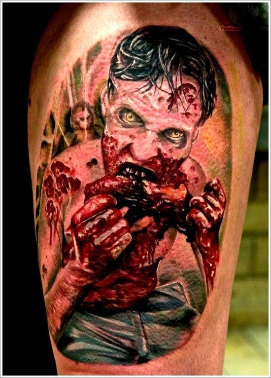 The Walking Dead Tattoo Zombie Tattoos Tatouage