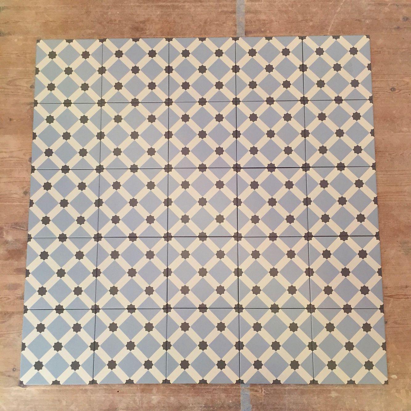 Fired Earth Hevin Glazed Patisserie Floor Tiles 20cm X 20cm 0 8cm