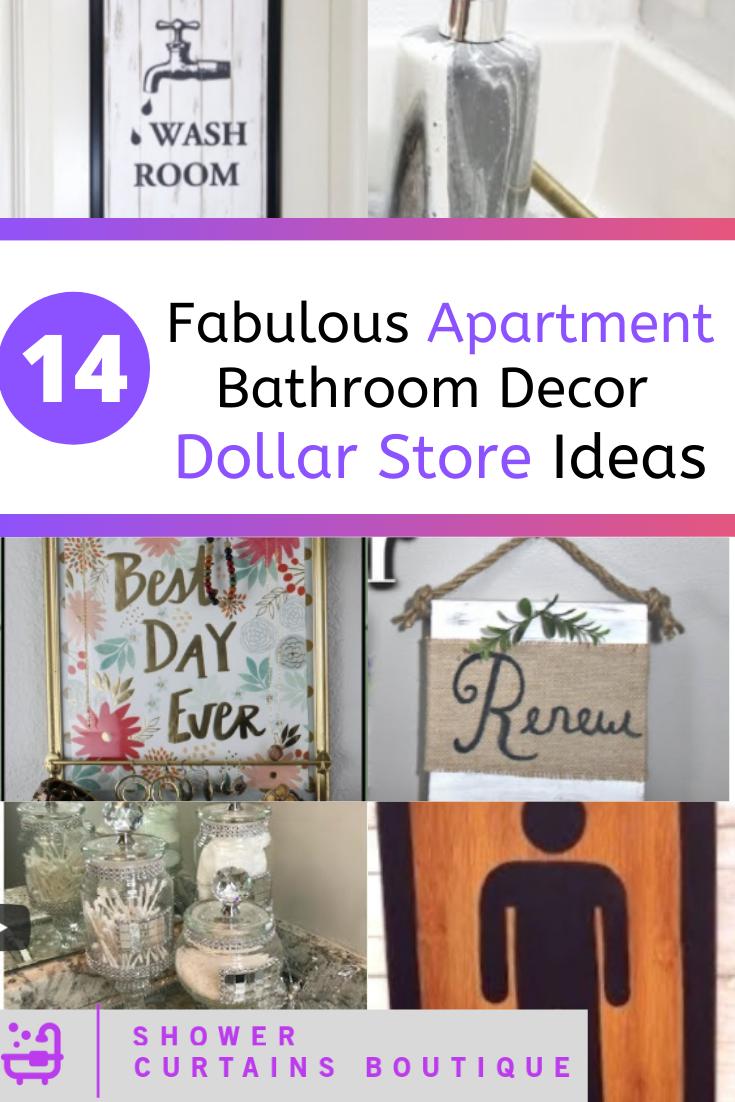 14 Fabulous Apartment Bathroom Decor Dollar Store Ideas Shower