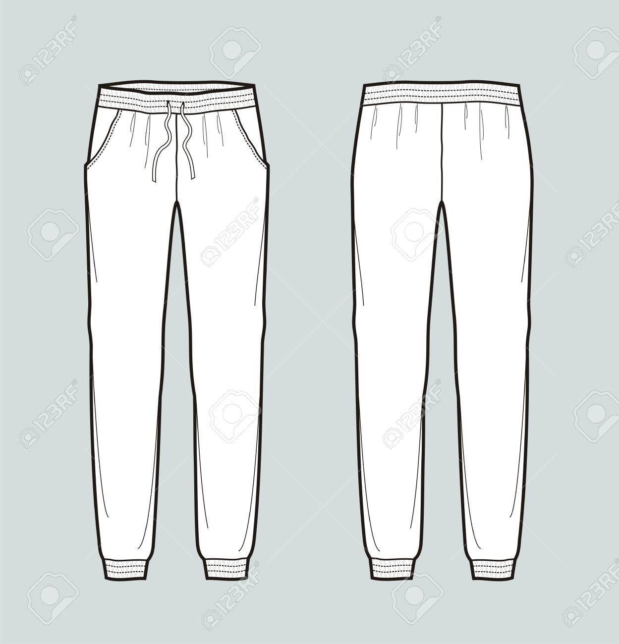 Pantalon Mujer Vector Buscar Con Google Bocetos De Ropa Figuras De La Moda Pantalones Dibujo