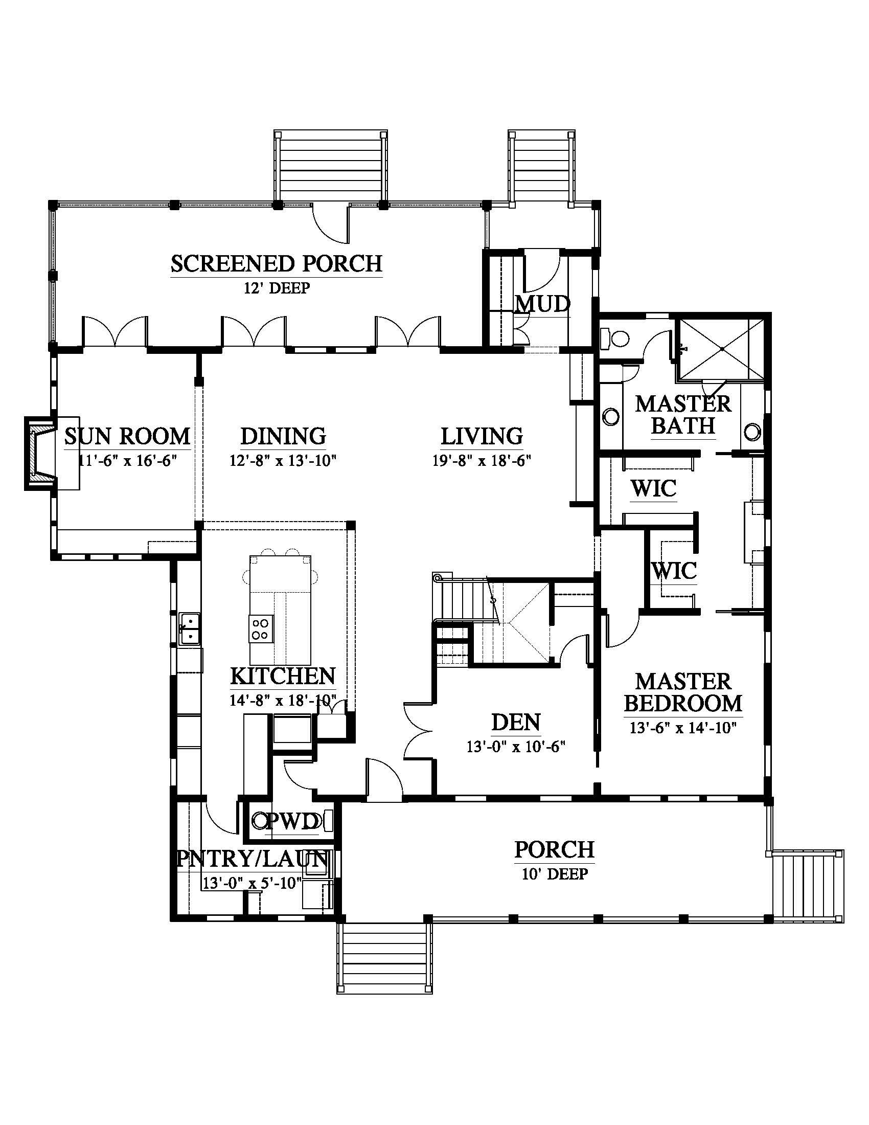 Pleasant Point 153192 House Plan 153192 Design From Allison Ramsey Architects Floor Design Floor Plan Design Floor Plans