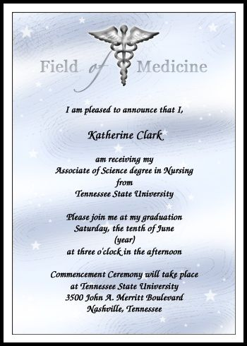 Medical School Graduation Announcements And Invitations At