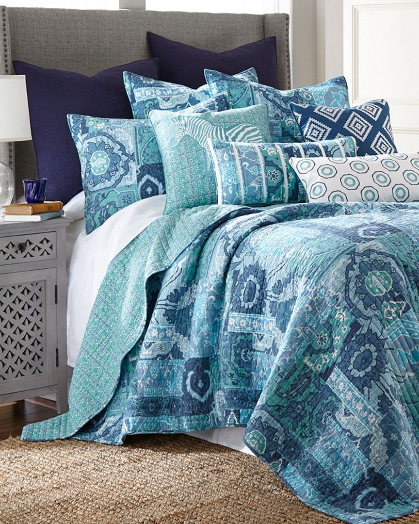 Aja Blue Quilt Collection is on Rue. Shop it now. Quilt