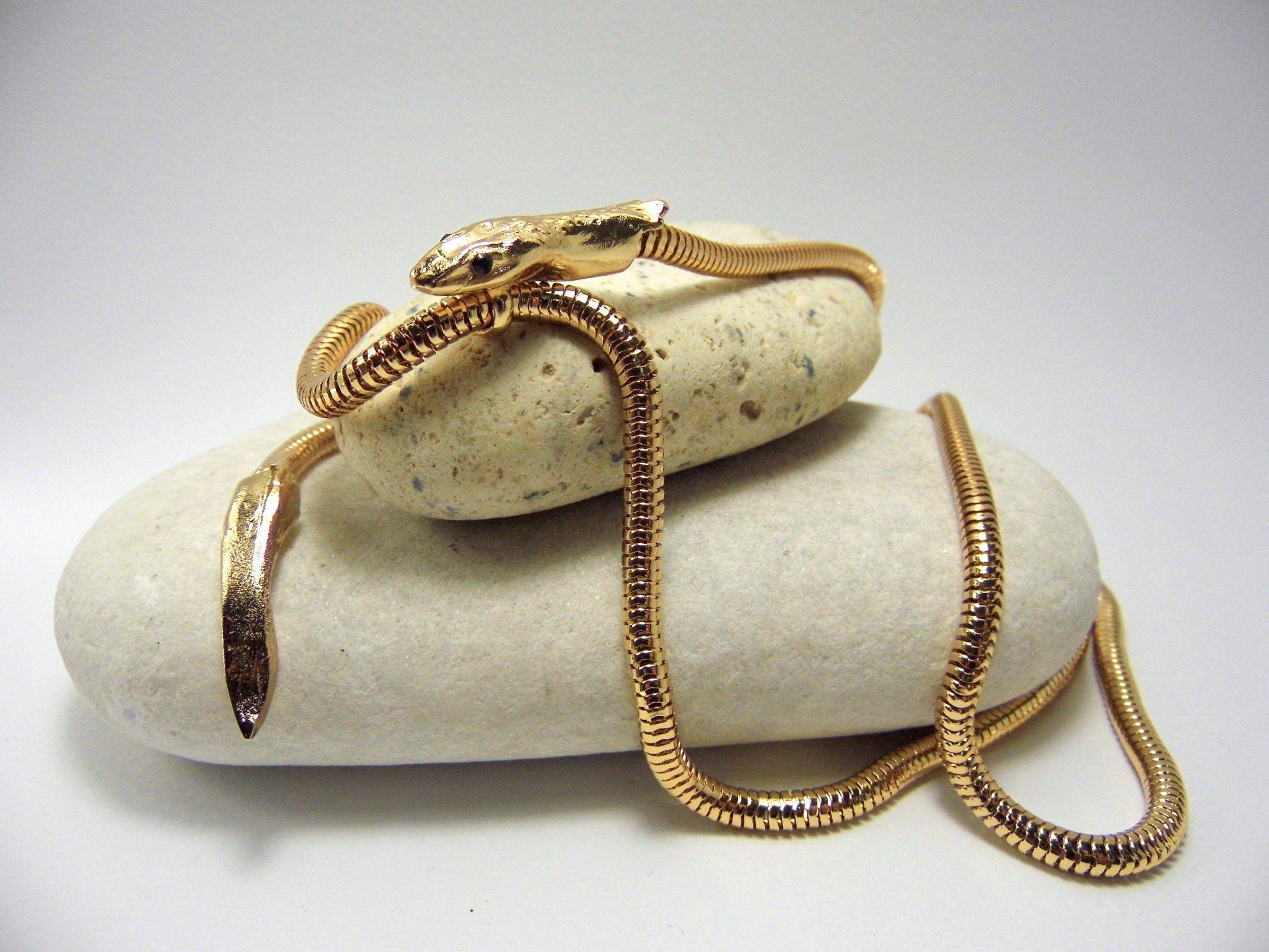 NUOVO di Metallo Oro Serpente Bracciale Braccialetto-Cleopatra Egiziana Costume