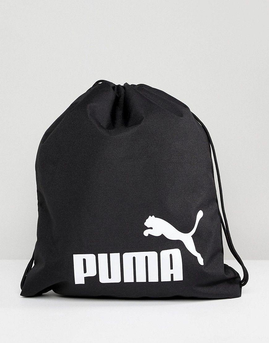 PUMA PHASE DRAWSTRING BAG IN BLACK 07494301 - BLACK.  puma  bags ... c843162dfbd82