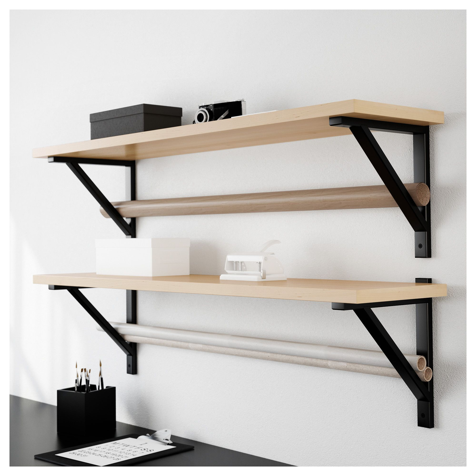 Furniture And Home Furnishings Ikea Ekby Shelves Wall Shelving