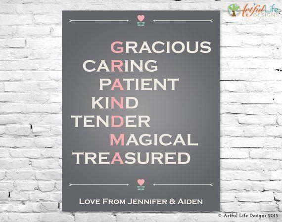 GRANDMA GIFT, Grandma Poem, Grandma Print, Grandma Birthday Gift, Grandma Christmas Gift, New Grandm #newgrandma