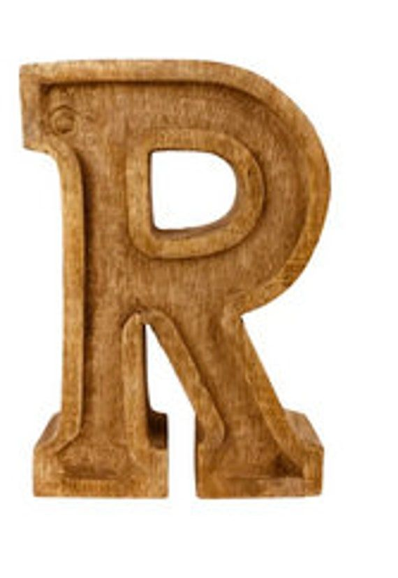 Hand Carved Wooden Embossed Letters Bar