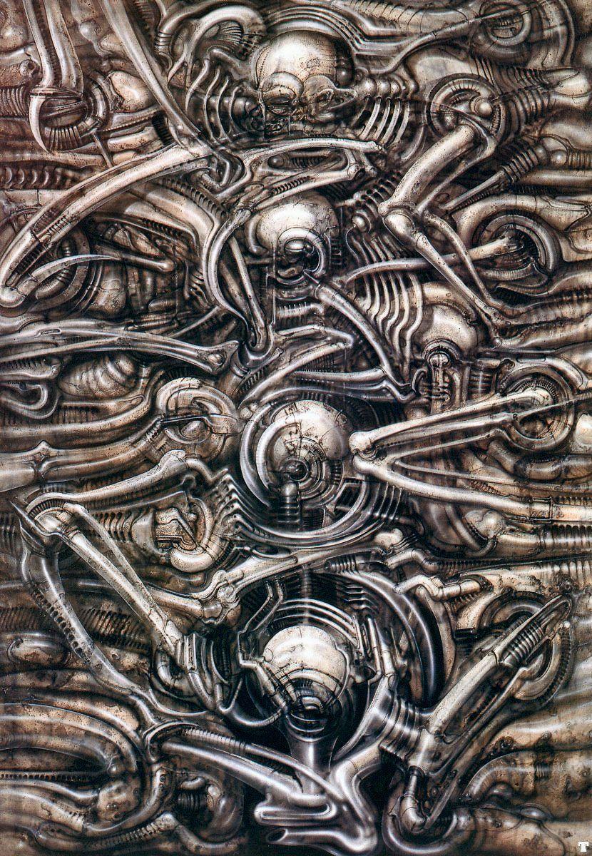 Gieger Tattoos Designs: Hans Rüdi Giger: Biomechanical Landscape No 312