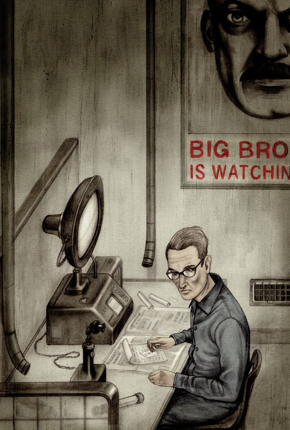 Haunting Illustrations For Orwells Nineteen Eighty Four