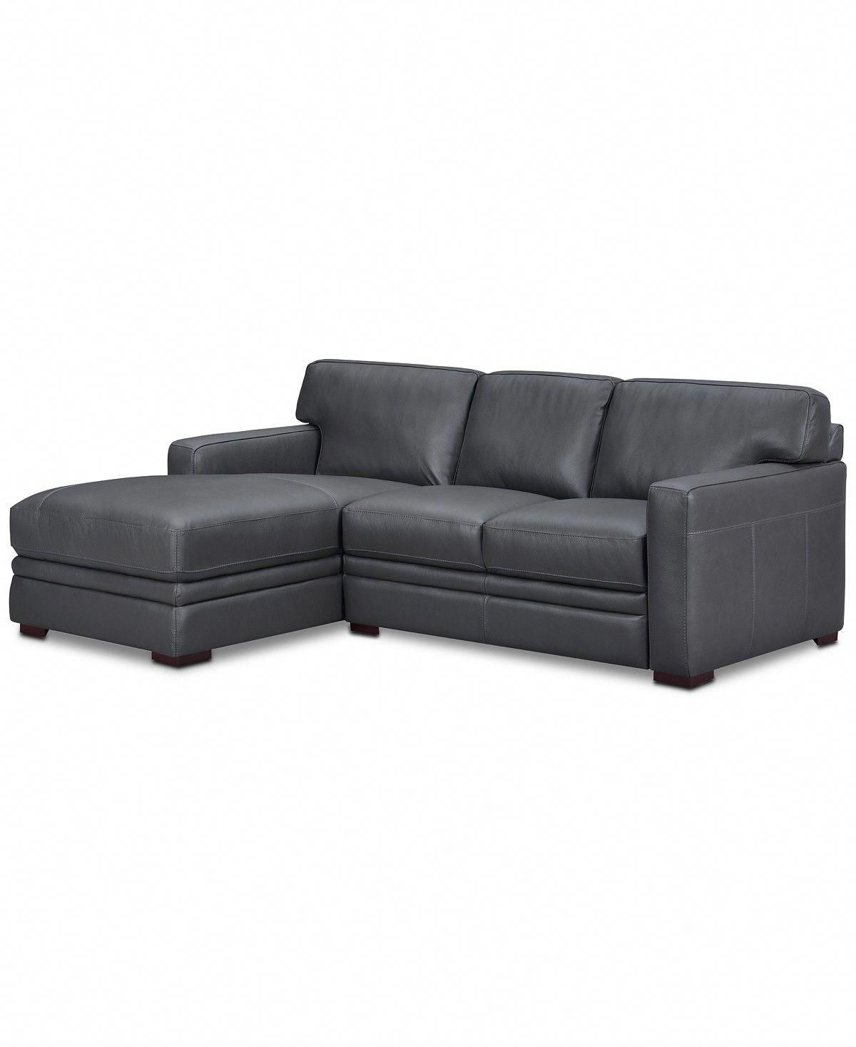 Avenell 2pc leather sectional with chaise created for