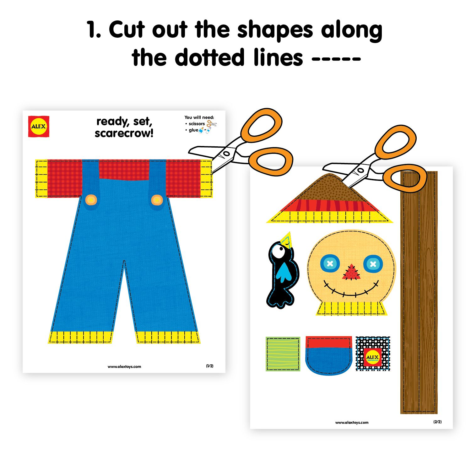 Kids Thanksgiving Crafts Make A Scarecrow Printable