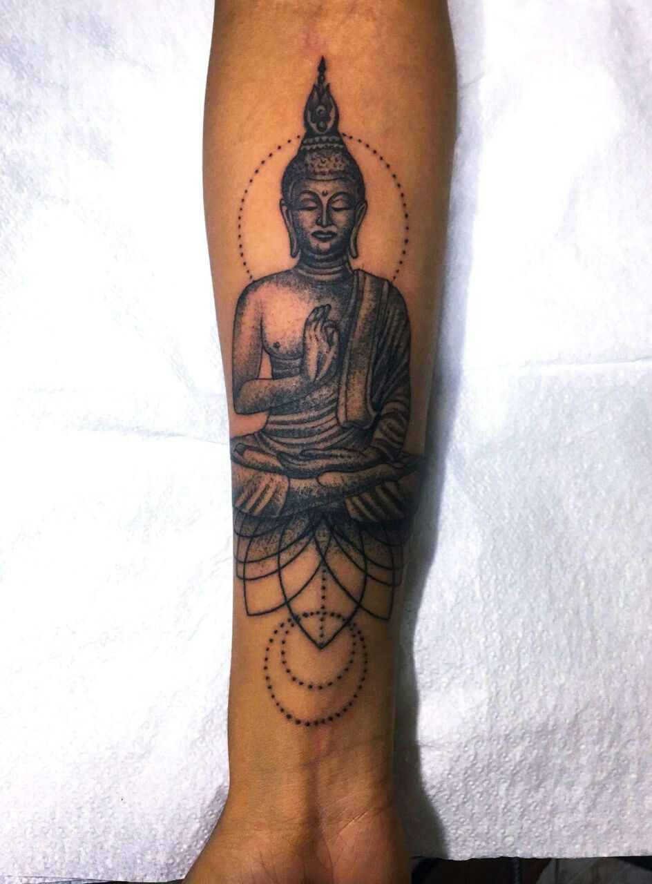 Forearm Buddha tattoo   Forearm sleeve tattoos, Buddha ...