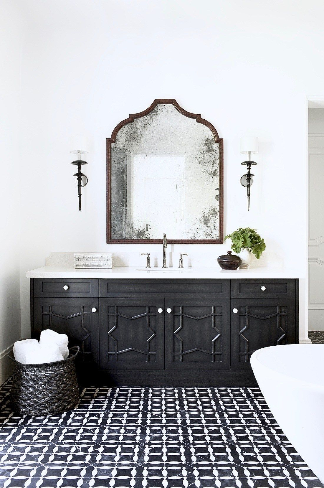 Moroccan Inspired Master Bath Cococozy White Bathroom Designs