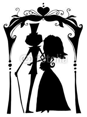Stick Couple Silhouette