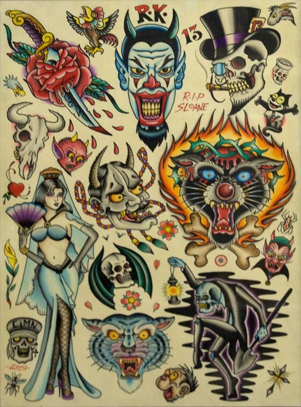 American Traditional Tattoo Flash Art
