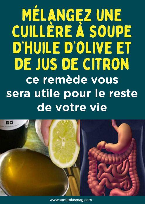 Mélangez une cuillère à soupe d'huile d'olive et de jus de