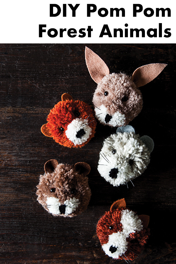 These adorable little furry faces will make a fun DIY project for the whole family. They're designed by my friend China Squirrel!