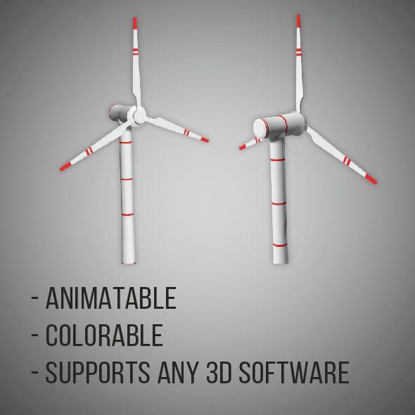 Realistic Wind Turbine  3D model of a city  #3D #3DModel #3DDesign