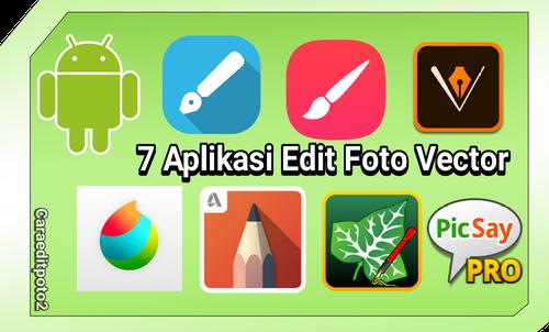 Kumpulan aplikasi edit foto vector kartun diandroid